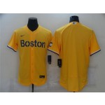 Boston Red Sox Gold 2021 City Connect Flex Base Team Jersey