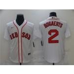 Boston Red Sox #2 Xander Bogaerts White 2020 Cool Base Jersey