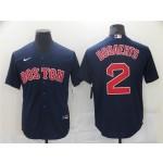 Boston Red Sox #2 Xander Bogaerts Navy Cool Base Jersey