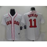 Boston Red Sox #11 Rafael Devers White Cool Base Jersey