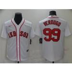 Boston Red Sox #99 Alex Verdugo White Cool Base Jersey