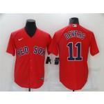 Boston Red Sox #11 Rafael Devers Red Cool Base Jersey