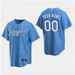Men's Kansas City Royals Custom Light Blue Alternate Cool Base Jersey(Name and number remark in comment column)