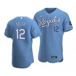 Men's Kansas City Royals #12 Jorge Soler Nike Light Blue Alternate 2020 Authentic MLB Jersey