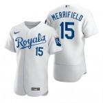 Men's Kansas City Royals #15 Whit Merrifield Nike White Home 2020 Authentic Player MLB Jersey