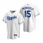 Men's Kansas City Royals #15 Whit Merrifield Nike White Home 2020 Coolbase Jersey