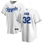 Men's Kansas City Royals #32 Jesse Hahn Nike White Home 2020 Coolbase Jersey