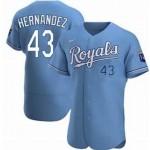 Men's Kansas City Royals #43 Carlos Hernandez Nike Light Blue Alternate 2020 Authentic MLB Jersey