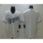 Men's Kansas City Royals Blank White Stitched MLB Cool Base Nike Jersey