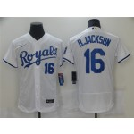 Men's Kansas City Royals #16 Bo Jackson White Flex Base Jersey