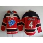MLB Kansas City Royals #4 Alex Gordon Red All Stitched Hooded Sweatshirt