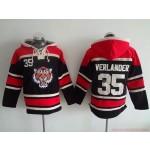 MLB Detroit Tigers #35 Justin Verlander Black All Stitched Hooded Sweatshirt