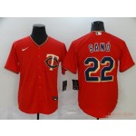 MLB Minnesota Twins #22 Miguel Sano Red 2020 Nike Cool Base Jersey