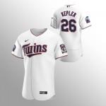 Men's Minnesota Twins #26 Max Kepler Nike White Home 2020 60th Season Authentic Team MLB Jersey