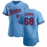 Men's Minnesota Twins #68 Randy Dobnak Nike Light Blue Alternate 2020 60th Season Authentic Team MLB Jersey