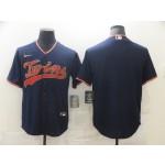 Nike Men's Minnesota Twins Navy Blue Alternate Authentic Team Blank MLB Jersey