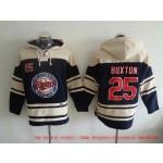 MLB Minnesota Twins #25 Byron Buxton Navy Blue All Stitched Hooded Sweatshirt