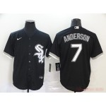MLB Chicago White Sox #7 Tim Anderson Black 2020 Nike Cool Base Jersey