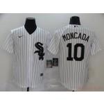 MLB Chicago White Sox #10 Yoan Moncada White 2020 Nike Cool Base Jersey