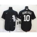 MLB Chicago White Sox #10 Yoan Moncada Black 2020 Nike Cool Base Jersey