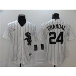 MLB Chicago White Sox #24 Yasmani Grandal White 2020 Nike Cool Base Jersey