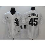 MLB Chicago White Sox #45 Michael Jordan White 2020 Nike Cool Base Jersey