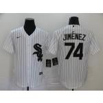 MLB Chicago White Sox #74 Eloy Jimenez White 2020 Nike Cool Base Jersey
