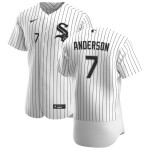 Men's Chicago White Sox #7 Tim Anderson Nike White Home 2020 Authentic Player MLB Jersey