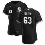 Men's Chicago White Sox #63 Matt Foster Nike Black Alternate 2020 Authentic Player MLB Jersey