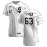 Men's Chicago White Sox #63 Matt Foster Nike White Home 2020 Authentic Player MLB Jersey