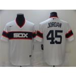 Chicago White Sox #45 Michael Jordan Vintate White Jersey