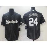 Chicago White Sox #24 Yasmani Grandal Black 2021 City Connect Cool Base Jersey
