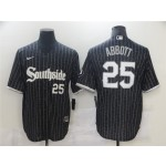 Chicago White Sox #25 Jim Abbott Black 2021 City Connect Cool Base Jersey(number on front and back)