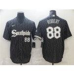 Chicago White Sox #88 Luis Robert Black 2021 City Connect Cool Base Jersey(number on front and back)