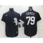 Chicago White Sox #79 Jose Abreu Black Cool Base Jersey