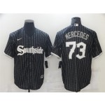 Chicago White Sox #73 Yermin Mercedes Black 2021 City Connect Cool Base Jersey