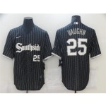 Chicago White Sox #25 Andrew Vaughn Black 2021 City Connect Cool Base Jersey