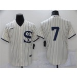 Chicago White Sox #7 Tim Anderson White 2021 Field of Dreams Cool Base Jersey