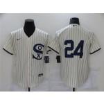 Chicago White Sox #24 Yasmani Grandal White 2021 Field of Dreams Cool Base Jersey