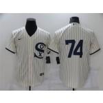 Chicago White Sox #74 Eloy Jimenez White 2021 Field of Dreams Cool Base Jersey