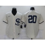 Chicago White Sox #20 Danny Mendick White 2021 Field of Dreams Cool Base Jersey
