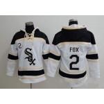 MLB Chicago White Sox #2 Nellie Fox White All Stitched Hooded Sweatshirt