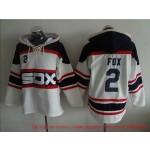 MLB Chicago White Sox #2 Nellie Fox White Alternate All Stitched Hooded Sweatshirt
