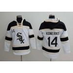 MLB Chicago White Sox #14 Paul Konerko White All Stitched Hooded Sweatshirt