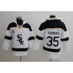 MLB Chicago White Sox #35 Frank Thomas White All Stitched Hooded Sweatshirt