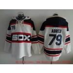 MLB Chicago White Sox #79 Jose Abreu White Alternate All Stitched Hooded Sweatshirt