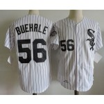 Men's Throwback Chicago White Sox #56 Mark Buehrle White Cooperstown Collection Jersey