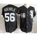 Men's Throwback Chicago White Sox #56 Mark Buehrle Black Cooperstown Collection Jersey