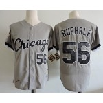 Men's Throwback Chicago White Sox #56 Mark Buehrle Grey Cooperstown Collection Jersey