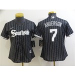 Women's Chicago White Sox #7 Tim Anderson Black 2021 City Connect Cool Base Jersey